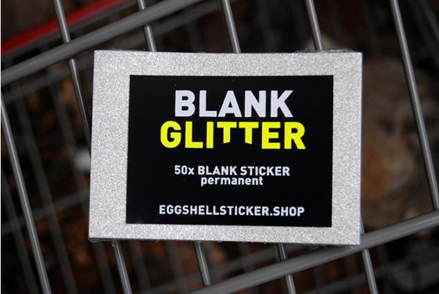 XL-BLANKO-STICKERPACK AUF SILBER-FOLIE