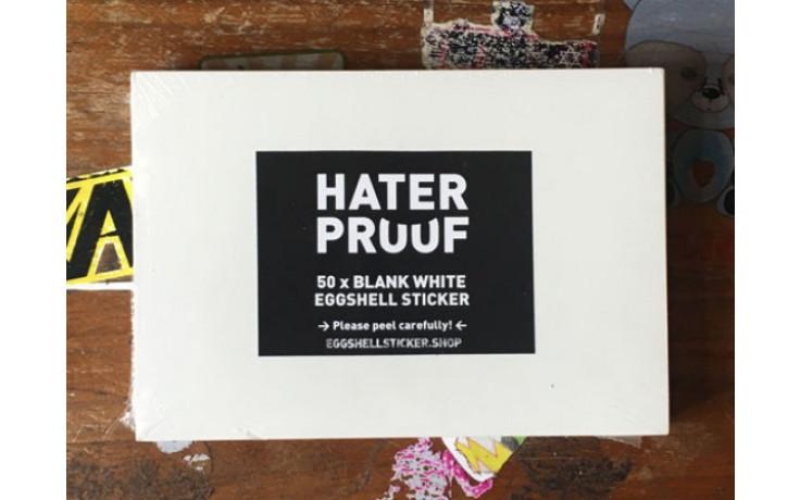 XL BLANK STICKER PACK ON WHITE EGGSHELL FOIL