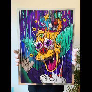 Krusty Magic Chrome Print