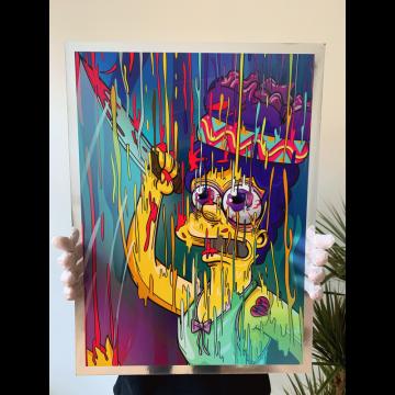 Marge Magic Chrome Print