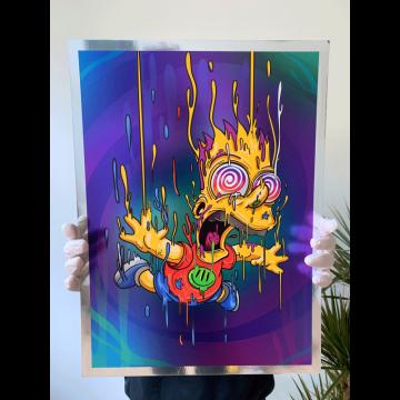 Bart Magic Chrome Print