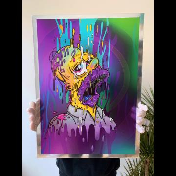 Homer Magic Chrome Print