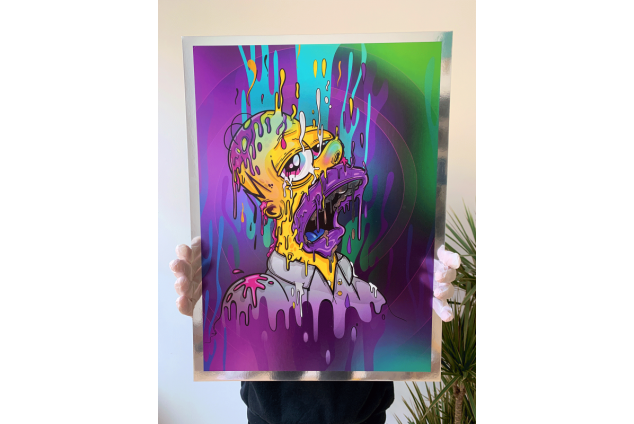 Homer Magic Chrome Print