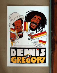 Dennis & Gregory Poster by Kid Gringo