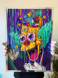 Krusty Magic Chrome Print