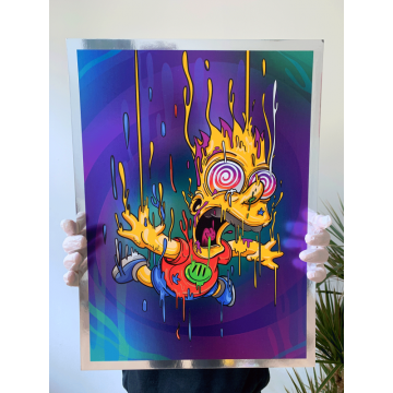Bart Magic Chrome Print