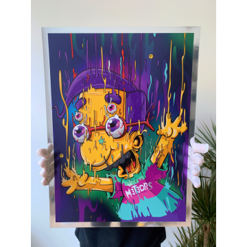 Milhouse Magic Chrome Print