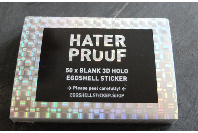STICKER PACK ON 3D HOLOGRAM EGGSHELL FILM